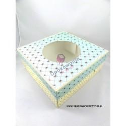 Pudełko składane na tort z nadrukiem 21/21/12,5 a'15 POLKRYS