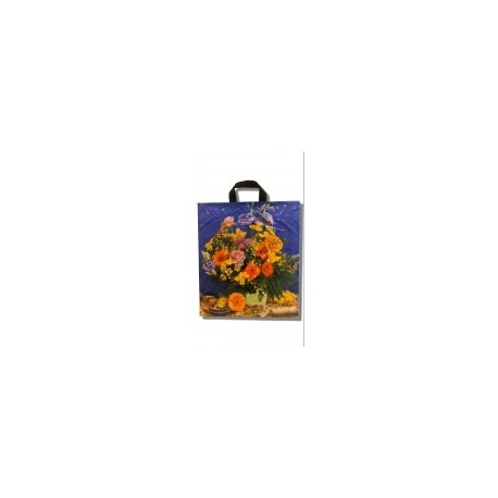 Reklamówki LDPE 0,1 z uchem 10 szt. (kwiaty)