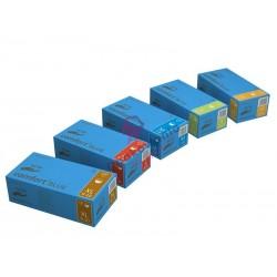 Rękawice lateksowe M niebieskie 100szt p
