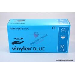 Rękawice winylowe S niebieskie 100szt