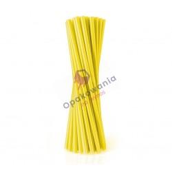 Słomki proste Shake żółte 500 szt