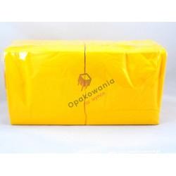 Serwetki dwuwarstwowe żółte intensywne 33x33 250 szt