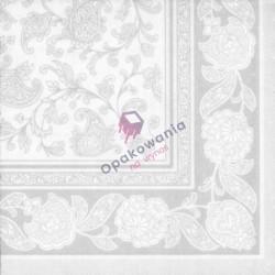 Serwetki PAPSTAR Biały Ornament 40x40 a'50 11682