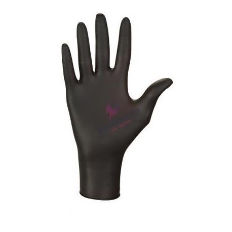 Rękawice nitrylowe M bezpudrowe czarne 100 szt