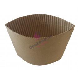 Opaska tekturowa szara na kubek papierowy 300/380/400 ml 50szt