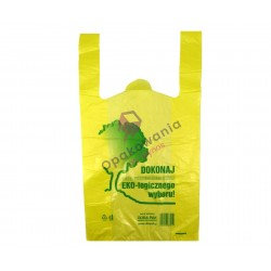 Reklamówka Ekologiczna 26x6x47 a'100 żółta