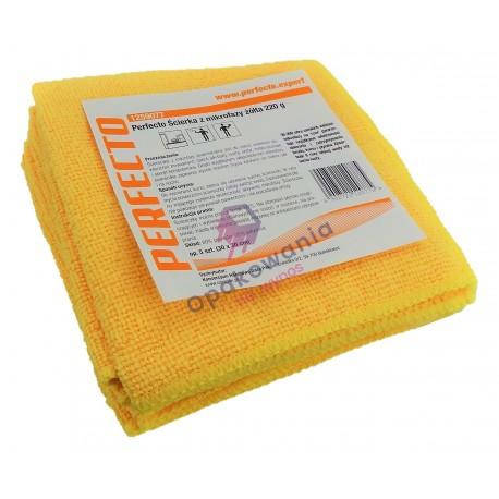 Ścierka Perfecto z mikrofazy żółta 5 szt