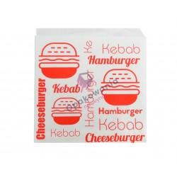 Torebka średnia HAMBURGER/KEBAB 15x16 200szt KR