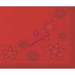 Serwetki PAPSTAR 40x40 czerwone świąteczne 82114 50 szt