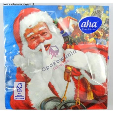 Serwetka Świąteczna Mikołaj AHA 20szt