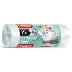 Worki 15l wiązane do łazienki zapachowe Paclan 44x46 40 szt