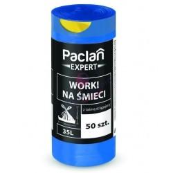 Worki 35l Paclan expert z taśmą 53x60 50 szt