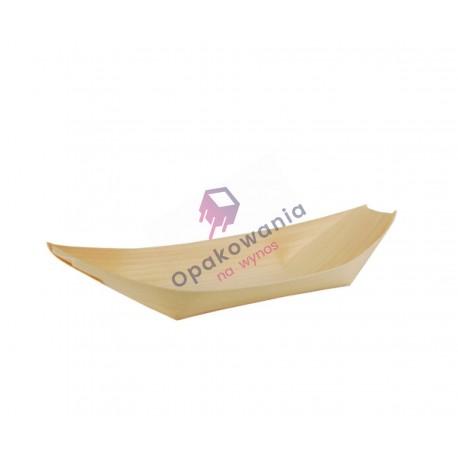 """Miseczki z drewna """"łódka"""" 21,5x10 50 szt 84418"""