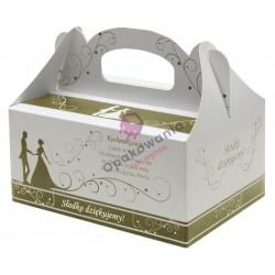 Pudełko samoskładające Młoda Para Złote 190/140/90 a'50 PS 14