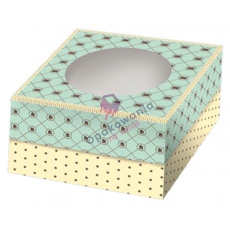 Pudełko składane na tort z nadrukiem 28/28/14 a'15 POLKRYS