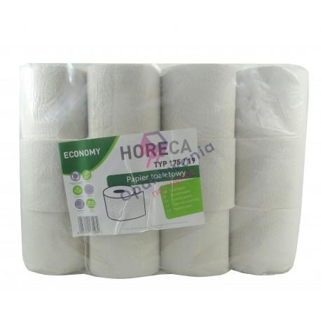 Papier toaletowy Horeca Economy 175/19 szary 24 rolki