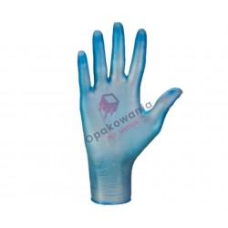 Rękawice winylowe L niebieskie pudrowane 100szt