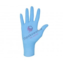 Rękawice nitrylowe S a'100 bezpudrowe niebieskie
