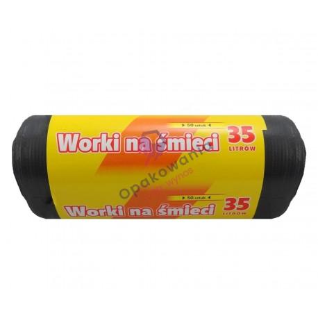 Worki sanitarne 35l HDPE czarne SR 50 szt