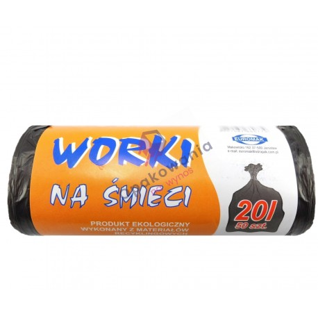 Worki 20l HDPE czarne 50 szt