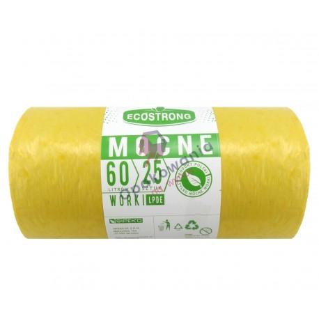 Worki 60l LD żółte SIP 25 szt