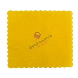 Serwetki ząbkowane 15x15 żółte ciemne 200 szt