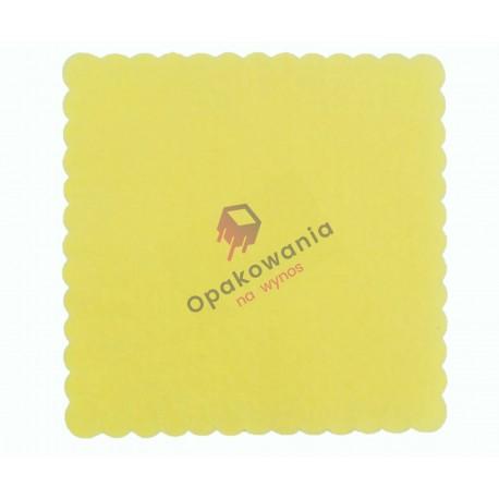 Serwetki ząbkowane 15x15 żółte jasne 200 szt