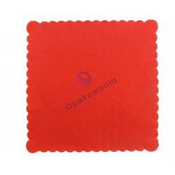 Serwetki ząbkowane 15x15 czerwone 200 szt