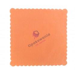 Serwetki ząbkowane 15x15 pomarańczowe 200 szt