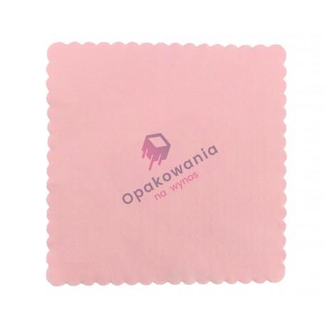 Serwetki ząbkowane 15x15 różowe 200 szt