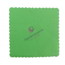 Serwetki ząbkowane 15x15 zielone 200 szt