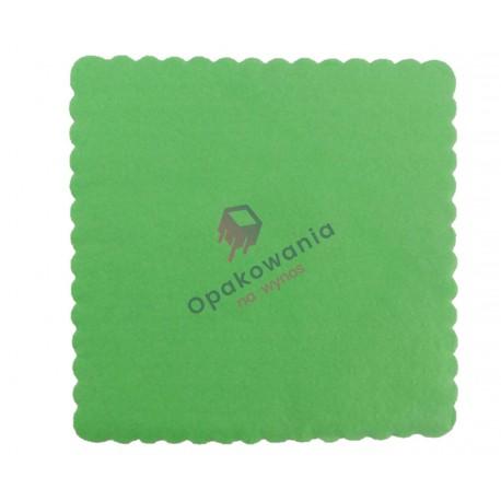 Serwetki ząbkowane 17x17 zielone 400 szt