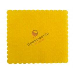 Serwetki ząbkowane 17x17 żółte 400 szt
