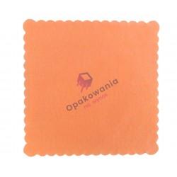Serwetki ząbkowane 17x17 pomarańczowe 400 szt