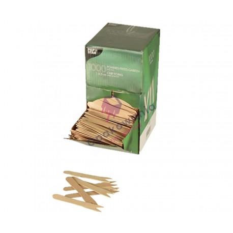 Widelczyki do frytek z drewna 8,5cm 1000szt 18201