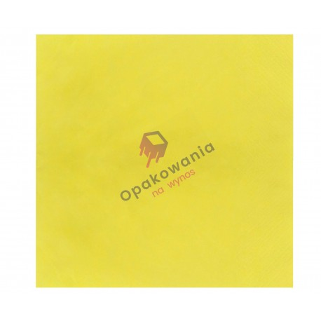 Serwetki dwuwarstwowe żółte 33x33 250 szt