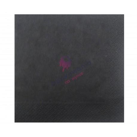 Serwetki dwuwarstwowe czarne 33x33 250 szt