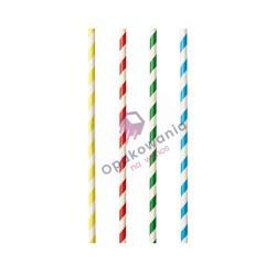 Słomki papierowe Shake Paski Kolorowe 100 szt 87512