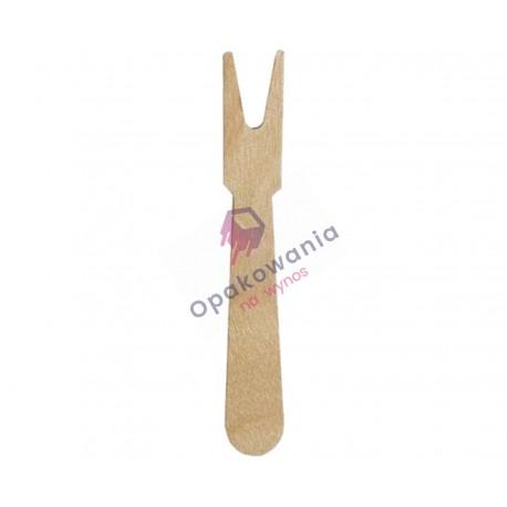 Widelczyki do frytek z drewna KR 7,3 cm 500 szt
