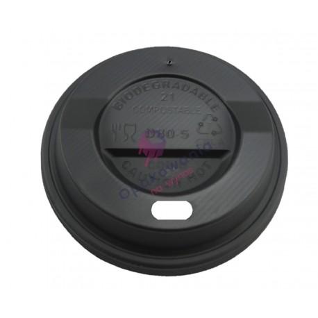Wieczko czarne PLA 80mm 100szt