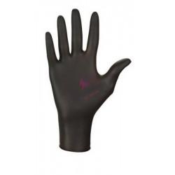 Rękawice nitrylowe XS bezpudrowe czarne 100 szt