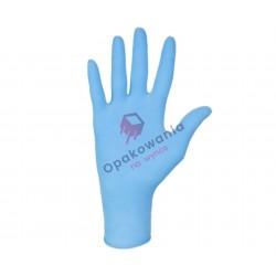 Rękawice nitrylowe M bezpudrowe niebieskie 100szt