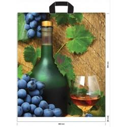 Reklamówki LDPE Wino 35my 10szt