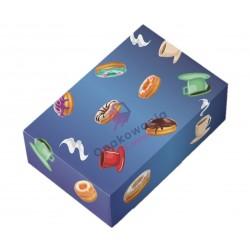 Pudełko niebieskie na pączki 310x220x80 1szt