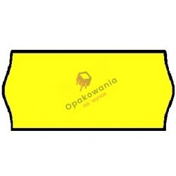 Ceny 2-rzędowe fala żółte 26x16 1szt