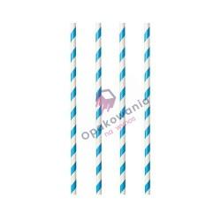 Słomki papierowe Shake biało-niebieskie 8/240 250szt Enjoy&BeEco