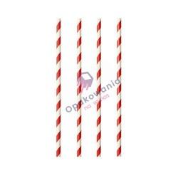 Słomki papierowe Shake biało-czerwone 8/240 250szt Enjoy&BeEco