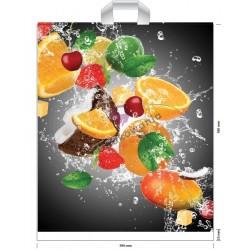 Reklamówki LDPE 39x45 Owoce 10szt