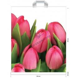 Reklamówki LDPE 39x45 Tulipany 10szt
