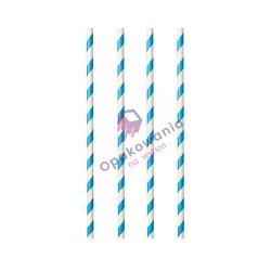 Słomki papierowe Shake biało-niebieskie 8/197 250szt Enjoy&BeEco